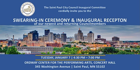 2020 Saint Paul City Council Inaugural  tickets