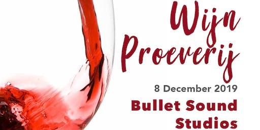 Wijnproeverij bij Bullet Sound Studios