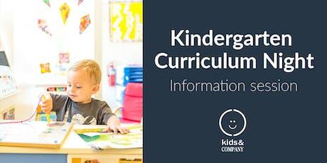 Kindergarten Curriculum Night: Kids & Company Eau Claire tickets