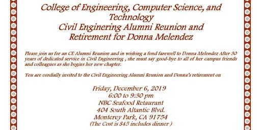 CSULA Civil Engineering Alumni Reunion and Donna Melendez Retirement Celebration