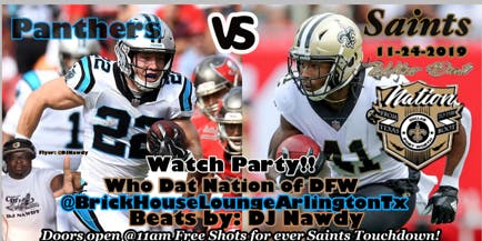 Who Dat Nation Brickhouse Lounge Takeover