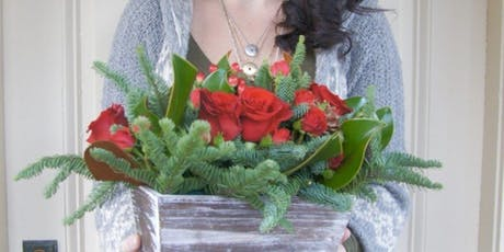 Holiday Flower Arrangement at Hammer & Stain, Rockville with Alice's Table tickets