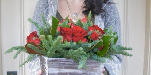 Holiday Flower Arrangement at Hammer & Stain, Rockville with Alice's Table