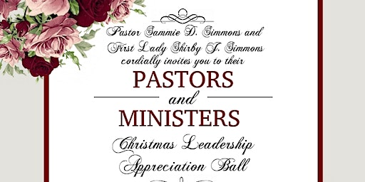 Pastors and Ministers Christmas Ball