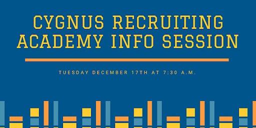 Info Session - Cygnus Recruiter Academy - Recruiting Foundations Training
