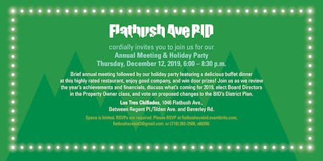 Flatbush  Avenue BID Annual Meeting and Holiday Party tickets