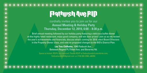 Flatbush  Avenue BID Annual Meeting and Holiday Party