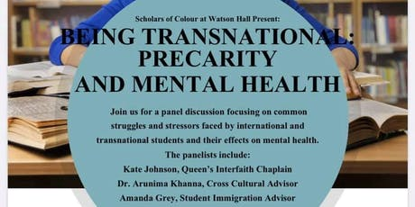 Being Transnational: Precarity and Mental Health tickets