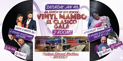 VINYL MAMBO GALA (2 ROOMS) El Clasico Old School with Africanjet