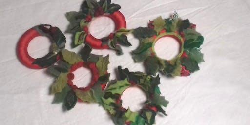Christmas Wreaths Felting