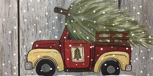 Vintage Christmas Truck Paint with Me