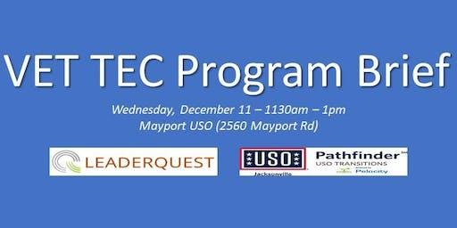 VetTec Program Brief