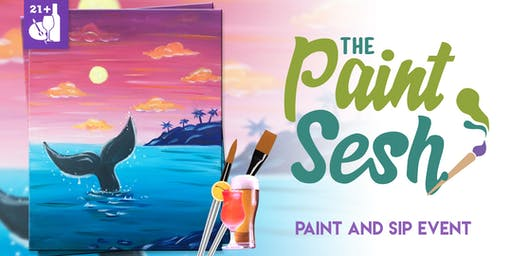 """Paint and Sip in Downtown Riverside, CA – """"Shoreline Greeter"""""""