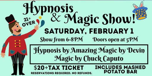 Magic and Hypnosis Show at the Winery