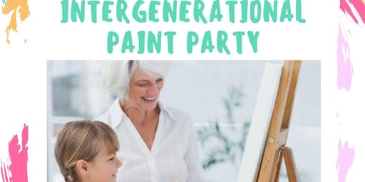 Inter generational Paint Party