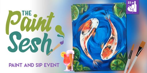 """Paint and Sip in Downtown Riverside, CA – """"Koi Pond"""""""