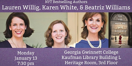 NYT Bestselling Authors Lauren Willig, Karen White, & Beatriz Williams