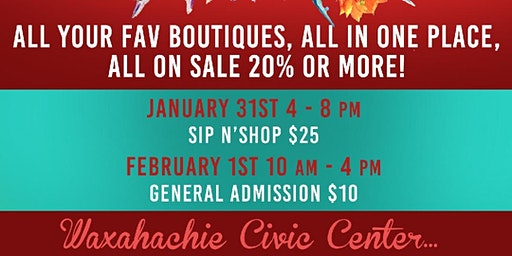 JANUARY 2020 LAST CALL, The Ultimate Boutique Sale