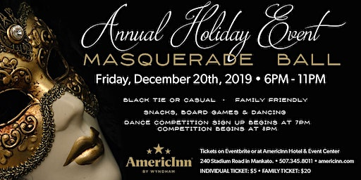Masquerade Christmas Ball - 10th Annual (Family Event)