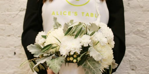 Magical Snowy Centerpiece - Umbra Winery - Grapevine with Alice's Table