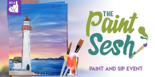 """Paint and Sip in Riverside, CA - """"Lighthouse Cove"""""""