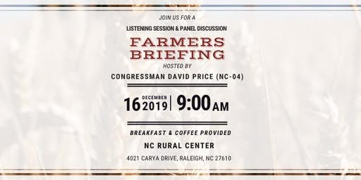 2019 Farmers Briefing with Representative David Price