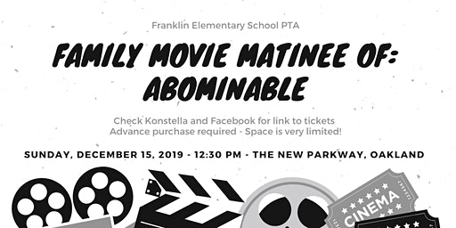 Franklin Elementary School Movie Matinee & Fundraiser