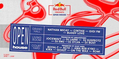 Red Bull Presents Open House - Southampton tickets