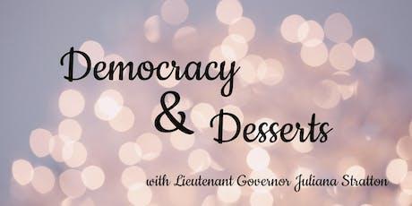 Democracy & Desserts tickets