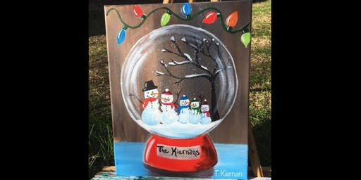 Snowman Globe Painting Workshop