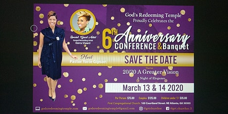God's Redeeming Temple 6th Anniversary Conference & Banquet tickets