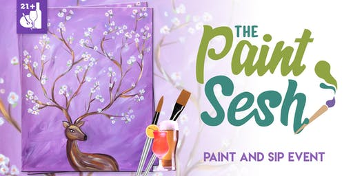 """Paint and Sip in Downtown Riverside, CA – """"Oh Deer"""""""