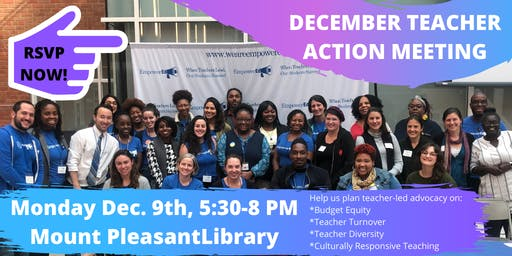 EmpowerEd December Teacher Action Meeting