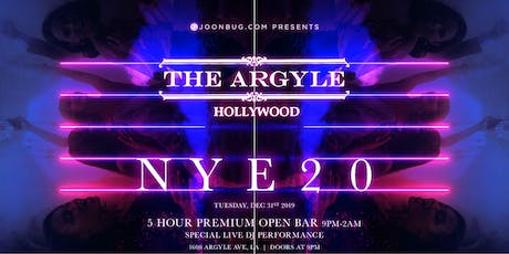 The Argyle New Years Eve 2020 Party tickets