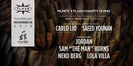 Munite x Flash Charity Giving: Carlo Lio - Saeed Younan + More tickets