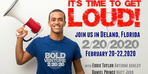 Men's Bold Venture Retreat   Deland, Florida  February 20-22, 2020