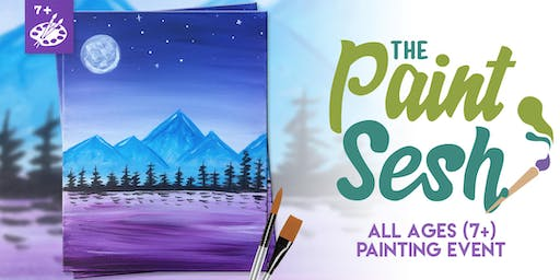 """All Ages Painting Event: Downtown Riverside, CA - """"Dreamy Mountains"""" (7+)"""