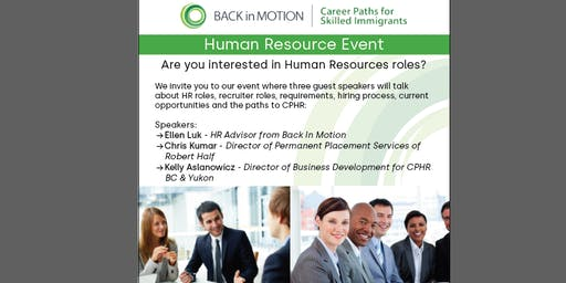 Back in Motion - Human Resource Event
