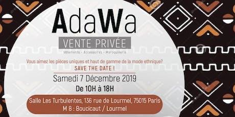 Vente Privée AdaWa billets