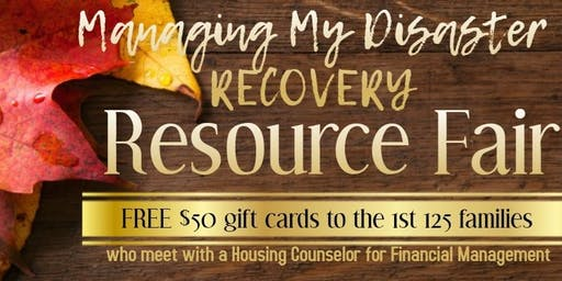 Manage My Disaster Recovery Resource Fair