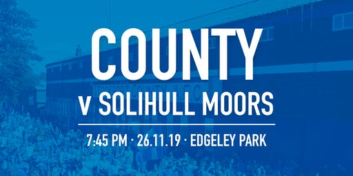 #StockportCounty vs Solihull Moors