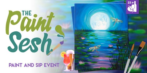 """Paint and Sip in Downtown Riverside, CA: """"Twilight Pond"""""""