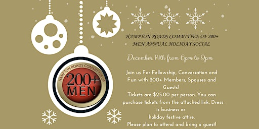 Hampton Roads Committee of 200+ Men: Holiday Social