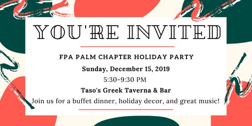 Palm Chapter Holiday Party