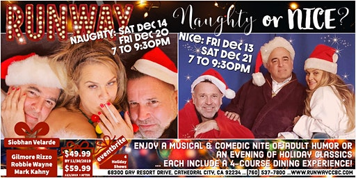 RUNWAY's NAUGHTY Holiday Show - Friday, 12/20/2019 7 pm