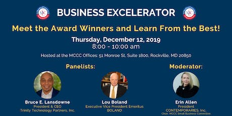 December 2019 Business EXCELerator tickets