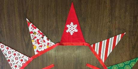 Sewing Christmas Bunting tickets
