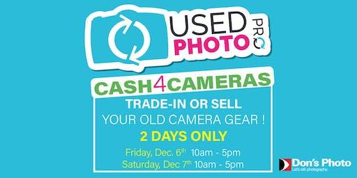 Cash 4 Camera Event: Trade-in Your Camera Gear !