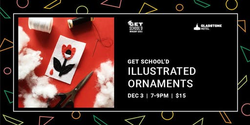 Get School'd: Illustrated Ornaments
