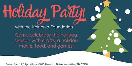 Koinonia Foundation Pajama Holiday Party tickets
